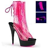 Pleaser CO_ple Womens DELIGHT-1018LA/NHPTPU/B Boots