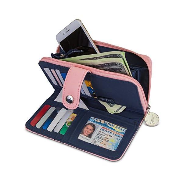 Nautica Be Shore Womens Wallet RFID Blocking Zip Around Clutch