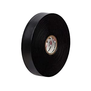 Scotch Linerless Rubber Splicing Tape 130C, 3/4 in x 30 ft, 1 roll/carton, Black