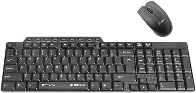 Xtreme - Teclado y ratón USB, color negro: Amazon.es: Informática
