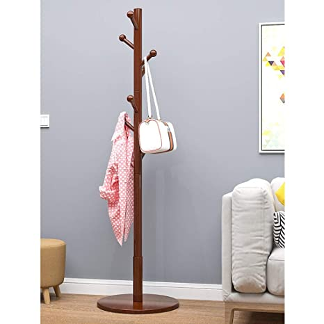 Amazon.com: ZCXBHD Wooden Coat Rack Base Disc Support Hanger ...