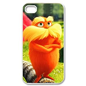 Stylish Design Cute Cartoon Film The Lorax Once-ler Picture High Quality Protective Durable Back Case Laser Cover Shell for iPhone 4/4S-2