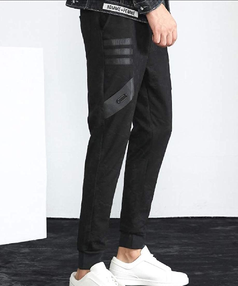 Tootless-Men Stitch Tenths Harem Slim Autumn Sport Classic Casual Trousers