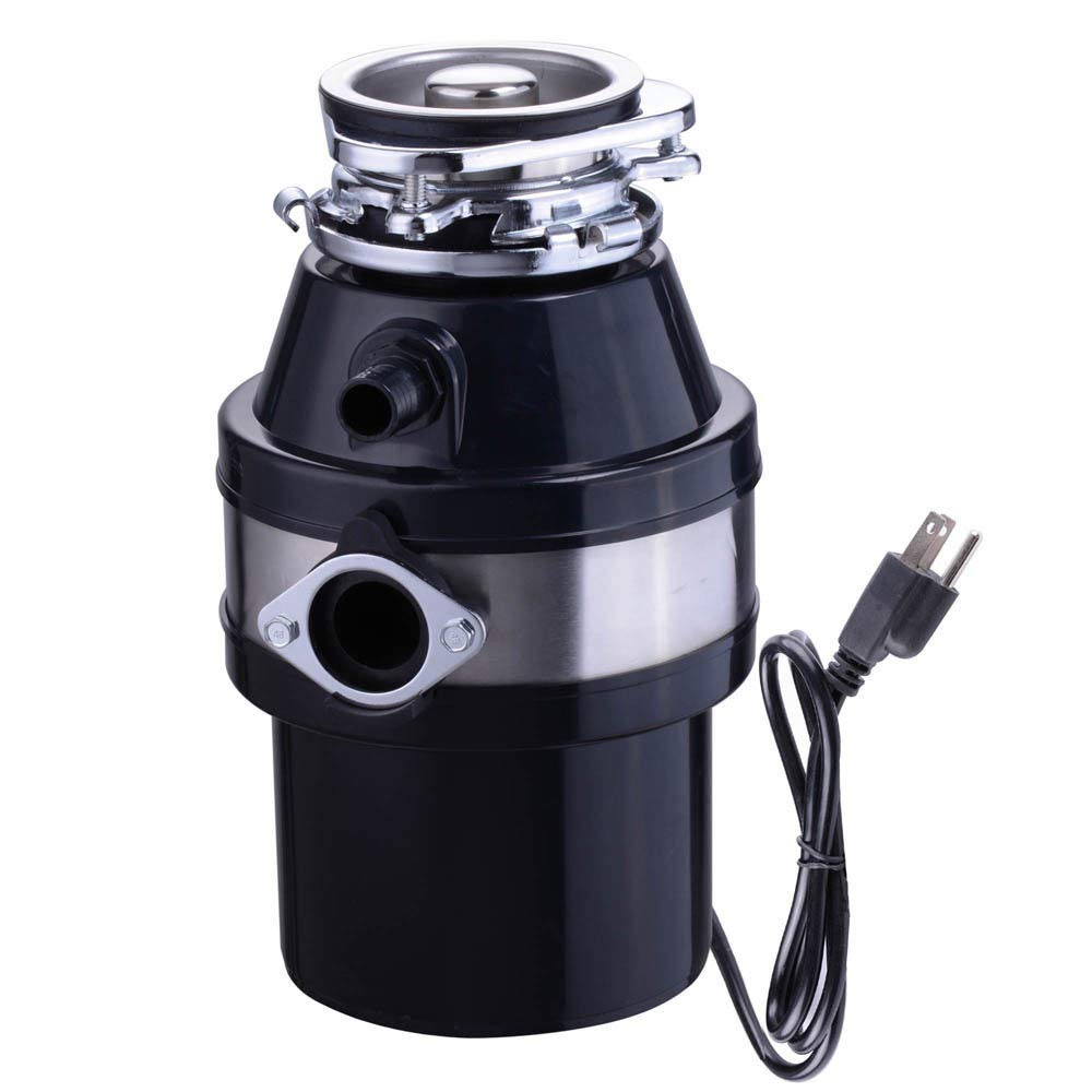Garbage Disposal 1HP 2600 RPM Continuous Feed Home Kitchen Food Waste with Plug