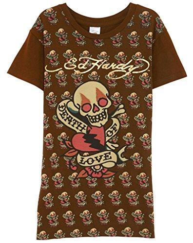 - Ed Hardy Skelton Design Tee Little Kids Style: RN4182-BRN Size: XS Brown