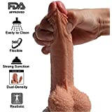 7 inch Silicone Dildo Realistic Sturdy Suction Cup Penis...
