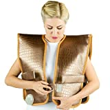 HL HEALTHYLINE - Far Infrared Shoulders Heating Pad - 40inL X 20inW (Firm) - TourmalineHot Stone - Negative Ions - Free Foil Blanket