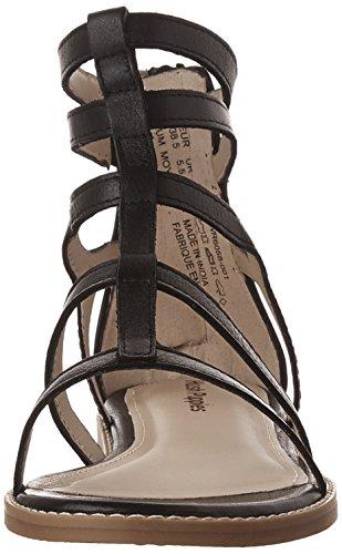 Fashion Sandals Abney Hush Women's Lo Black Leather Puppies Chrissie X7Bqfa