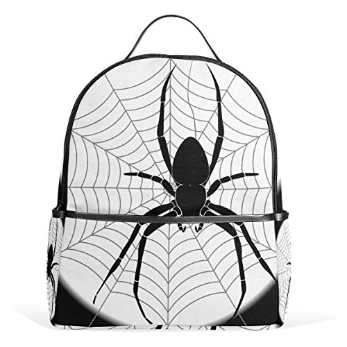 Spider Web Moon Backpack Bookbag Shoulder Bag For Boys Girls Kids Travel Daypacks