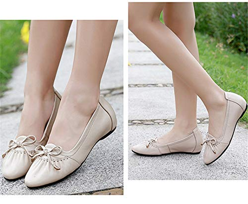 shoes leather pregnant women fashion Sweet shoes Grey shoes ladies casual shoes office bow FLYRCX single work PwqYCEwFt