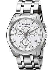 Tissot Mens Couturier White Dial Stainless Steel Watch T035.617.11.031.00