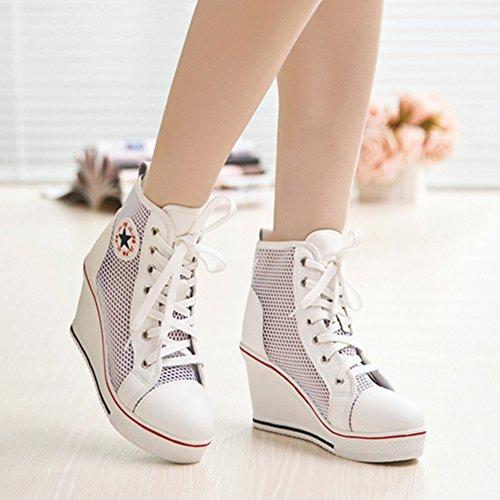Mujer Padgene Maille Deporte de Zapatillas Blanc xYwYtR