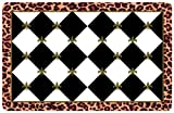 Bungalow Flooring 2 by 3-Feet Surfaces Floor Mat, Fleur De Lis, Black and White with Gold