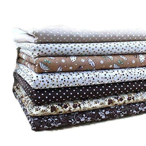 Brown Cotton Patchwork Fabric Bundle For DIY Sewing Textiles tilda Quilting Tissue 50x50cm (7 pcs)