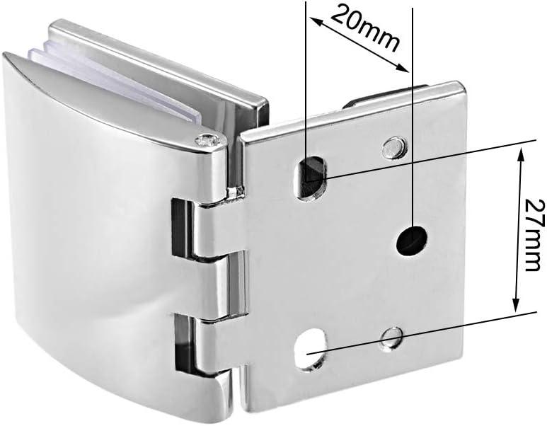 sourcing map Charni/ère porte verre collier alliage zinc pour /épaisseur verre 5-8mm 2Pcs