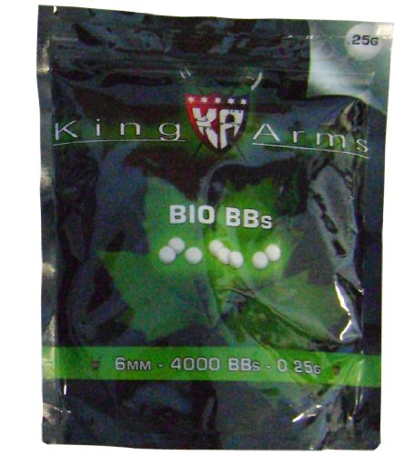 (Soft Air King Arms .25g Bio BB's - 4,000 Count)