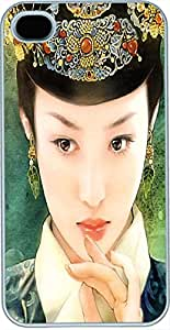 iPhone 4 Cases, iPhone 4s Cases, Chinese Tang Dynasty Princess with Green Dress Case for iPhone 4/4s -- White Plastic Case