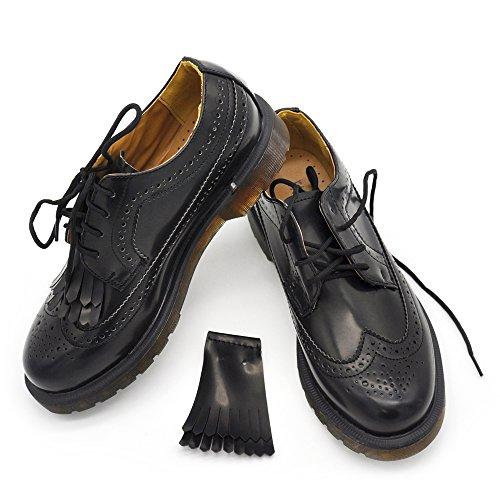 sports shoes 6541d f2976 N.35-41 SCARPE DA DONNA ECOPELLE STRINGATE DUILIO OXFORD FRANGE W13139
