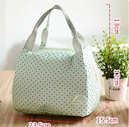 Borse Termoisolato Lunchbag Carry Scatola Portatile Verde Sacchetto Pink1 Picnic Contenitore Pranzo Di Immagazzinaggio 8HvWvxqd