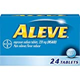 Aleve Pain Reliever/Fever Reducer Tablets, 24 ea