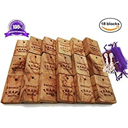 Moth Repellent Natural Fresh Camphorwood Root Cube household Storage Essentials Aromatic Non-toxic Repel Pests Value Pack Moth Protection for Clothes Closet and Drawer System Accessories 18 Items