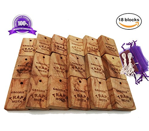 Moth Repellent Natural Fresh Camphorwood Root Cube household Storage Essentials Aromatic Non-toxic Repel Pests Value Pack Moth Protection for Clothes Closet and Drawer System Accessories 18 Items (Beetle Kill Outdoor Furniture)