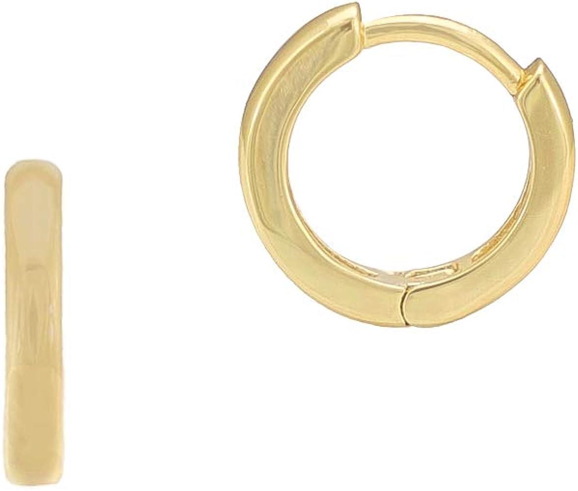 Modern Simple Gold Earrings Everyday Dainty Hoop Earrings Minimalist Gold Earrings Gold Huggie Tiny Thick 14K Gold Vermeil Hoop Earrings