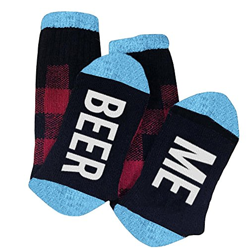 Huiyuzhi Unisex IF YOU CAN READ THIS Socks Knit Funny Crew Socks Party Novelty Sock (One Size, Beer-Blue)