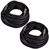 Seismic Audio Q12TW100-2Pack 100-Feet 1/4 to 1/4-Inches Speaker Cable 12-Gauge 2 Conductor, Pair