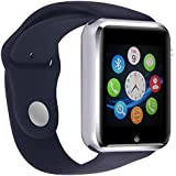"""INDEPENDENCE DAY""Smart Watch Phone /Bluetooth/Easy Connection/Make Calls/Support SIM/TF for Apple iPhone 5s/6/6s and Android 4.2 or Above SmartPhones (Black)"