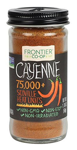Frontier All-Natural Cayenne Pepper, Ground, 1.76-Ounce Bottle (Cayenne Pepper Frontier)