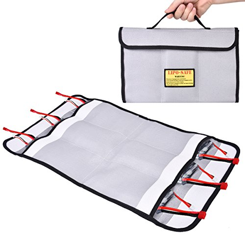 Hpi Carrying Bag (Abaige RC Lipo Battery Safe Guard Storage & Charging Bag (Basic Storage up to 6 Packs Batteries) Firproof Explosion-proof Case Bag)