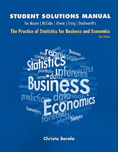 amazon com student solutions manual for practice of statistics for rh amazon com Business Statistics Examples Business Statistics Articles