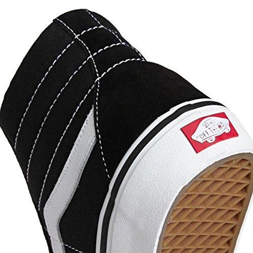 Vans Unisex Sk8-Hi Reissue (Canvas) Skate Shoe Black/White RWqfoSnW