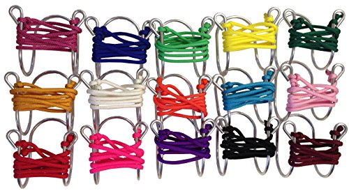Wine Glass Necklace with Assorted Colored Cords, Aluminum