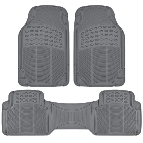 Blue Universal Floor Mat - BDKHeavy Duty Car Floor Mats - Universal for Car Truck SUV - Full 3pc Set in Gray