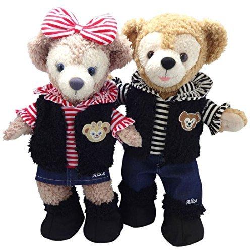 Teddy Bear Shop Alice Duffy Sherry Mae's Clothing Costumes (shaggy Mu best pair set black & red body) (Bear Black Shaggy)