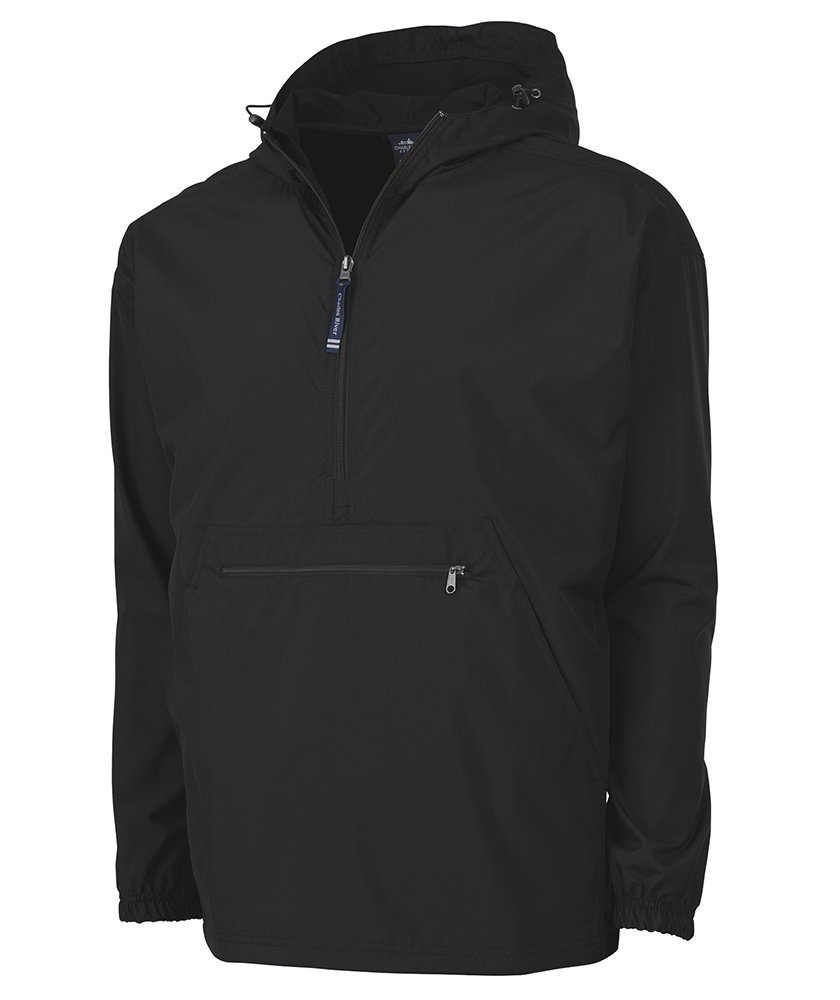 Charles River Apparel Men's Pack-N-Go Windbreaker Pullover, Black, XX-Large by Charles River Apparel