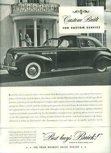 (Custom Built Custom Service - Buick Roadmaster Townmaster Brunn Town Car ad 1940 )