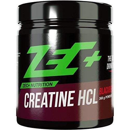 ZEC+ CREATIN Blackberry SHAKE | optimale Aufnahme von Creatine/Kreatin durch Hydrochlorid (HCL) | mehr Kraft | mehr Ausdauer | kein Aufblähen | keine Verdauungsprobleme | Muskelwachstum | 360g Pulver