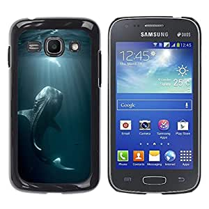 Planetar® ( Fishing Ocean Fish Blue Nature Dive Monster ) Samsung Galaxy Ace 3 III / GT-S7270 / GT-S7275 / GT-S7272 Fundas Cover Cubre Hard Case Cover
