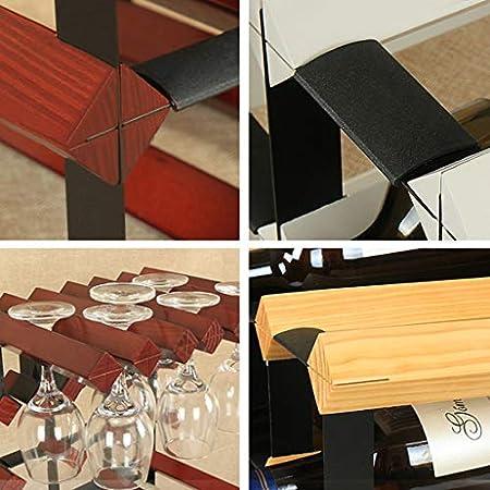 GUOF Estante de Vino de Pared Vinoteca Armario de Vino Creativo de Madera sólida decoración Rack Rack Portavasos (Color : B)