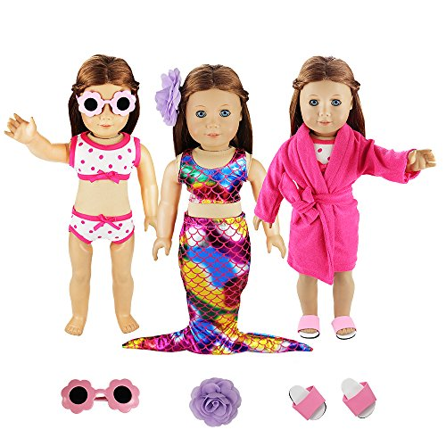 Barwa 3 Sets Summer Clothes Outfits Mermaid Dress and