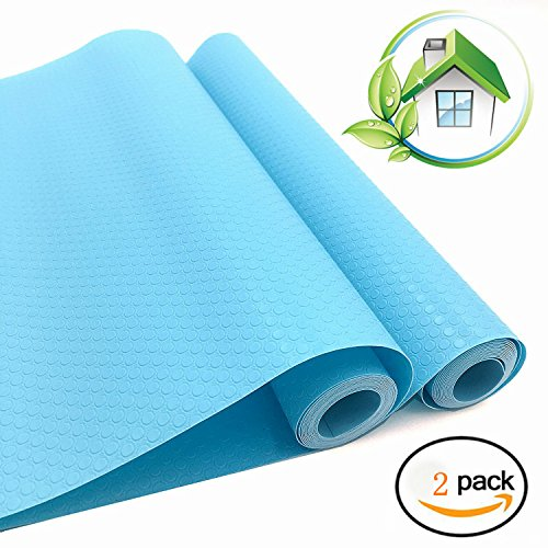 Humibird EVA Cabinet Drawer Liner bright-colored Shelf liner Non-Adhesive Refrigerator Pad Cupboard Non-Slip Mat by (2blue) by Humibird