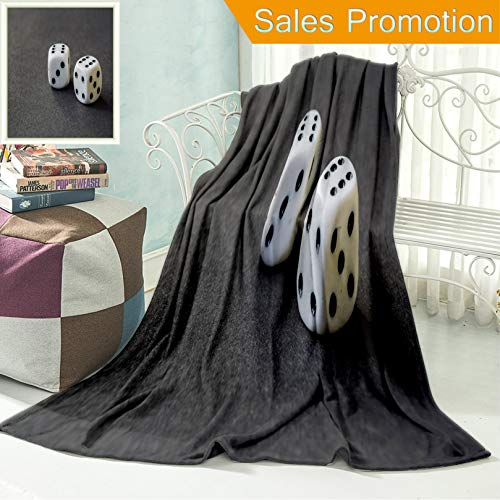 """(Ailieo Unique Custom Flannel Blankets Dice Super Soft Blanketry for Bed Couch, Twin Size 60"""" x)"""
