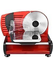 Team Kalorik elektrische allessnijder/broodsnijmachine, traploze snijsterkte-instelling (0-15 mm), 150 W, rood, TKG AS 1003 R