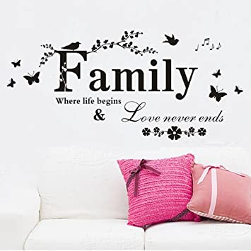 Charmant 23.6u0026quot; X 43.3u0026quot;Family Where Life Begins And Love Never Ends Home  Decor Quotes