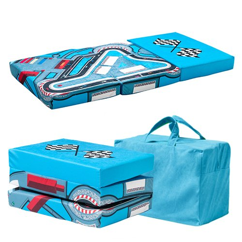 Ready Steady Bed Racer Design Children's Folding Playpen Mattress and Playmat