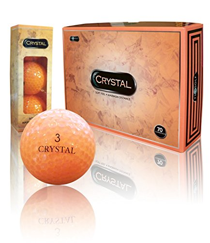- Crystal Golf Orange Golf Balls (Orange)