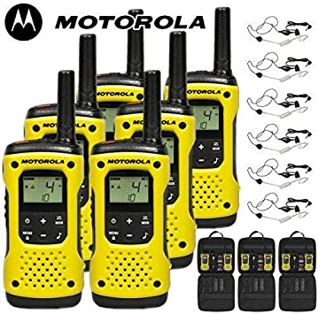 Comtechlogic 10Km Motorola Tlkr T92 H2O Flotante Dos Salidas Radio Walkie Talkie Viaje Pack CM-215TH Ptt/Vox Garganta Micrófonos: Amazon.es: Electrónica